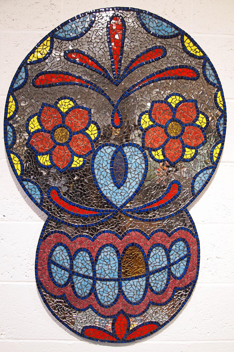 Mirror Sugar Skull Mosaic