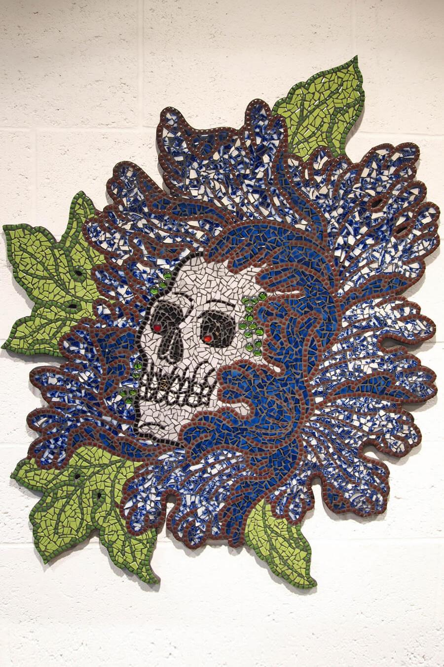 Peony Skull Mosaic