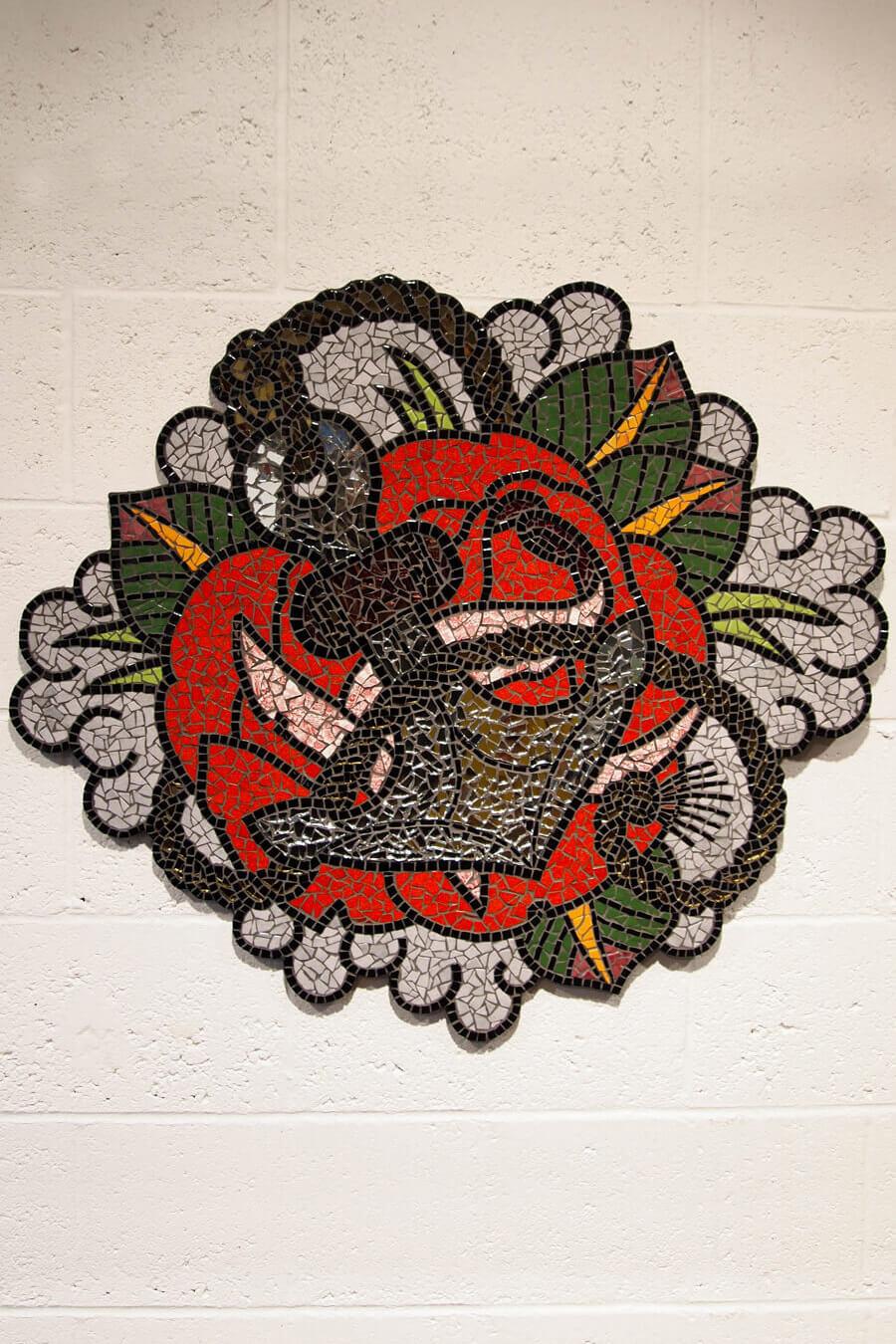 Rose and Anchor Mosaic
